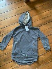 NWT ZARA Designer Grey Zipper Pocket Boy Hoodie  Sweatshirt 9 10