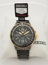 SEIKO 5 Automatic SRP356K1 Black Stainless steel 24 Jewels 100m SRP356 4R36