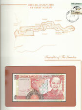 Banknotes of Every Nation Gambia 1996 5 Dalasis UNC P 16a Prefix A