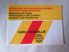 NZG Modelle Schuco Toy Collector's 32pg Full Color Item Catalog 1970 W-Germany