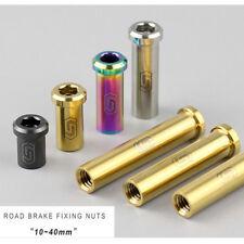 1pcs Titanium alloy road bike brake C shape Clamping device fixing nut Ti/BU/CO