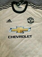 Adidas 19/20 Manchester United Away Jersey Linen ED7389 Size XL Extra Large NEW