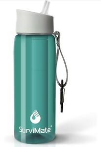 Water Bottle with Activated Carbon Detachable Filter And Keychain