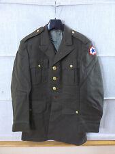 #C9 Original US WW2 Officers Service CLASS A UNIFORM JACKET Brown Ausgehuniform