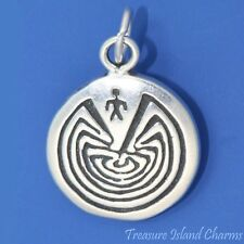 MAN IN MAZE ARIZONA NATIVE AMERICAN .925 Solid Sterling Silver Charm Pendant