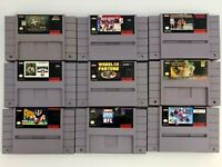 Authentic Vintage Super Nintendo SNES Lot of 9 Games - Cleaned - Tested & Works