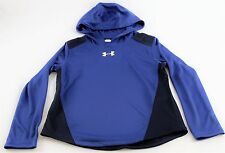 Under Armour Boys 1290021 400 Blue Long Sleeve Hooded X-Large Shirt MSRP $39.99