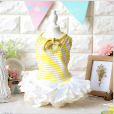 Summer Princess Lace Dog Dress Clothing For Dogs Pet Puppy Dog Clothes Yellow M