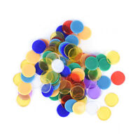 100 / Tasche PRO zählen Bingo Chips Marker für Bingo Spielkarte!EXBHWC