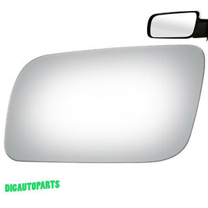 Driver Left Side Mirror Glass+Adhesive for Chevy GMC C/K 1500 Tahoe Blazer LH