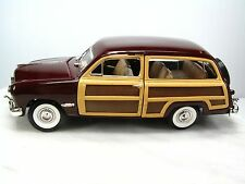 1949 FORD WOODY WAGON Die Cast Car 1:24 - SUPERIOR - Opening Doors & Hood