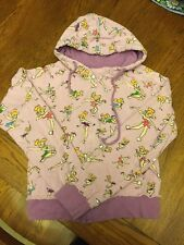 Disney Tinkerbell Zip-Up Hoodie Purple W/ Multi-Tink Junior's Size M Pre-Owned