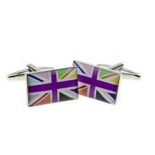 Multicolor Union Jack Bandera en boarderless Gemelos X 2 bocf 063
