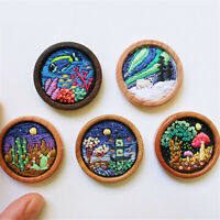 DIY Embroidery Starter Kit at Home Landscape Sewing Craft Hoop art