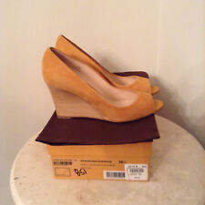 8,5 Tod's Suede Wedge Shoes NIB Orange Mustard