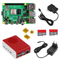 Raspberry pi 4 complete Kit (1/2/4GB) with case power adapter heat sink SD card