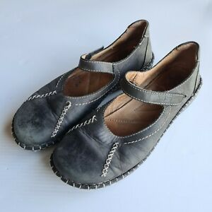 Josef Seibel Women's Black Leather Mary Janes Shoes Size 41