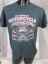 2014 Grey  Cotton Australian Motorcycle Grand Prix Phillip ISlAND T-Shirt M T49J
