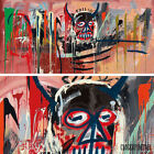 """50W""""x24H"""" UNTITLED 1982 MASK by JEAN-MICHEL BASQUIAT Repro - CHOICES of CANVAS"""