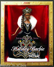 2006 Holiday Barbie Doll Celebration Christmas AA African American Bob Mackie