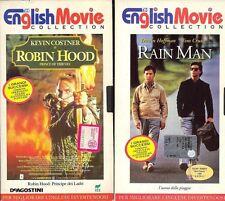 English Movie Collection: ROBIN HOOD e RAIN MAN - 2 VHS Originali in Inglese