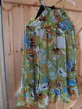 """Dress by Johnny Martin Green Flower Mix Size 1 Chest 30"""" Approx Size 6"""