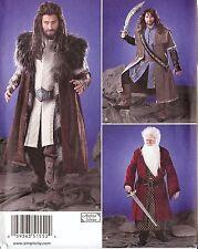 Hobbit King LOTR costume PATTERN Simplicity 1552 XS S M L XL Thorin Balin Kili