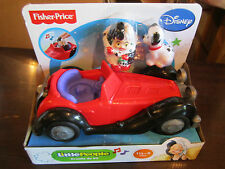 Fisher Price Little People New Disney Cruella de Vil 101 Dalmatians Patch dog
