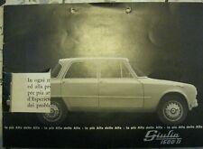 * Alfa Romeo Giulia 1600 TI  brochure  Prospekt 10.62 damaged rare