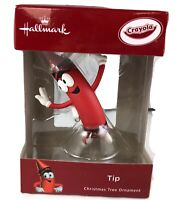 Hallmark 2018 Red Crayola Crayon Tip Christmas Tree Ornament New Limited Edition