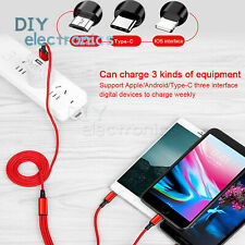 Usb Charging Cable Universal 3 in 1 Multi Function Cell Phone Charger Cord Us