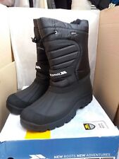 Trespass Dodo Winter Snow Waterproof Ski BOOTS Black UK 11