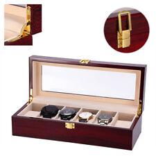 6 reloj de ranura de rejilla Caja Vitrina Colección de joyas organizador de almacenamiento de información ukdc