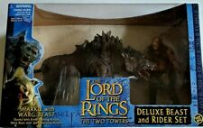Lord Of The Rings Sharku & Warg Jaw Chomping Beast LOTR Two Towers Movie ToyBiz