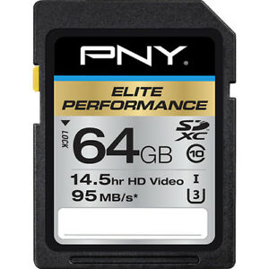 PNY 64G FS Elite S1R 4K HD SD card for Panasonic Lumix S1 S1R mirrorless camera