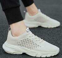 Mens Summer Breathable Casual Running Shoes Lace up Round Toe Walking Wear HOT A