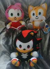 Sonic The Hedgehog -SD Sonic Big Head Amy Shadow  Tails Plush Baby Knuckles
