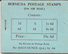 BERMUDA 1948 KGVI 10/6 BOOKLET SB2