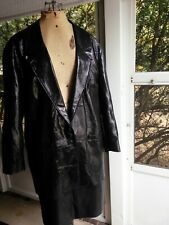 Vintage Women's Pia Rucci Leather Skirt Suit - Size 14 - Black