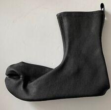 jil sander BLACK LEATHER TABI slippers socks shoes  it38 usa8 NEW boots