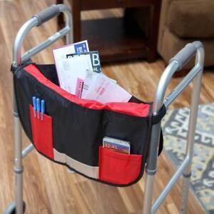 Adjustable loop fastener Basket Organizer Pouch Walker Wheelchair Pocket Pouch