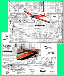 "Model Airplane Plans (RC): Carl Goldberg SKYLARK 56"" (Single and Twin-Engine)"