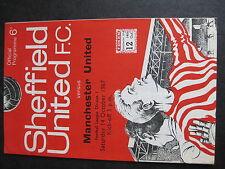 SHEFFIELD UNITED v MANCHESTER UNITED  14/10/1967  Season 1967-8