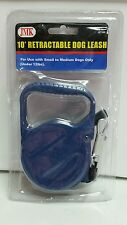 RETRACTABLE DOG PET LEASH  UP TO 12 LBS 10' FEET ROPE CORD LEAD HEAVY DUTY BLUE