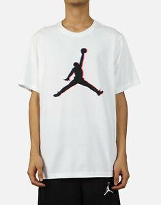 Air Jordan Nike Mens Jumpman 3D 23D Flight T-Shirt Large White Tee NEW