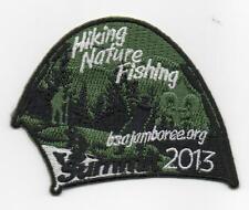 2013 National Jamboree Promo Tent Patch Series, Hiking Nature Fishing, Mint!