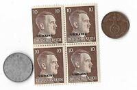 Rare Old WWII WW2 Germany Coin Ukraine Russia Stamp Great War Collection Lot G41