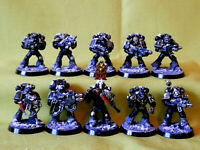 A32 WARHAMMER 40K SPACE MARINES IRON HANDS -PAINTED MARINES X 10