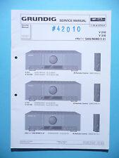 Service Manual for Grundig V 210/V 310/V 21 ,ORIGINAL