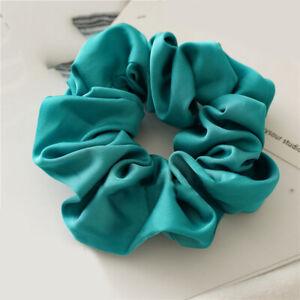 Silky Bright Satin Scrunchies Fashion Luxury Hair Rope Elastic Ponytail Hair Tie